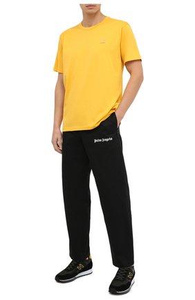 Мужская хлопковая футболка ACNE STUDIOS желтого цвета, арт. 25E173/M | Фото 2
