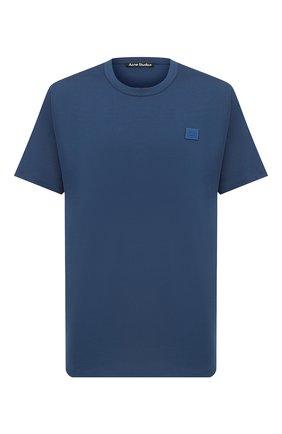 Мужская хлопковая футболка ACNE STUDIOS синего цвета, арт. 25E173/M | Фото 1