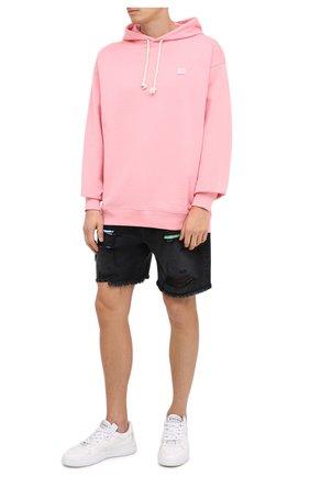 Мужской хлопковое худи ACNE STUDIOS розового цвета, арт. CI0009/M | Фото 2