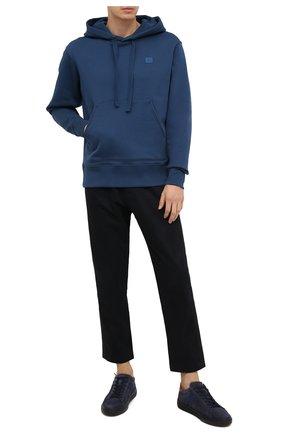 Мужской хлопковое худи ACNE STUDIOS синего цвета, арт. 2HK173/M | Фото 2