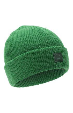 Мужская шерстяная шапка ACNE STUDIOS зеленого цвета, арт. C40075/M | Фото 1