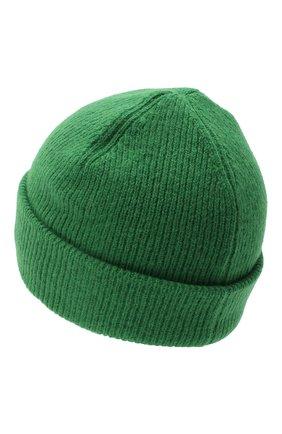 Мужская шерстяная шапка ACNE STUDIOS зеленого цвета, арт. C40075/M | Фото 2