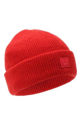 Мужская шерстяная шапка ACNE STUDIOS красного цвета, арт. C40075/M | Фото 1