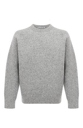 Мужской свитер из шерсти и кашемира ACNE STUDIOS серого цвета, арт. B60151 | Фото 1
