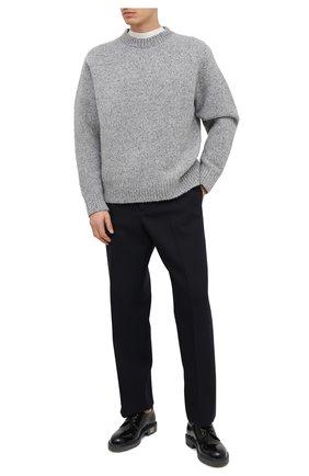 Мужской свитер из шерсти и кашемира ACNE STUDIOS серого цвета, арт. B60151 | Фото 2