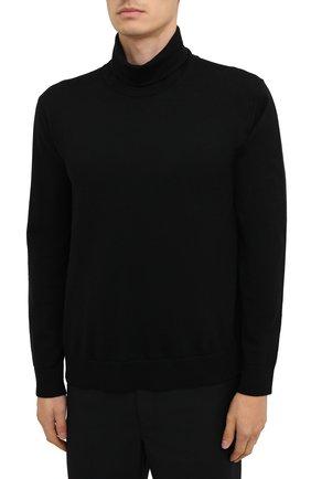 Мужской шерстяная водолазка ACNE STUDIOS черного цвета, арт. B60158   Фото 3