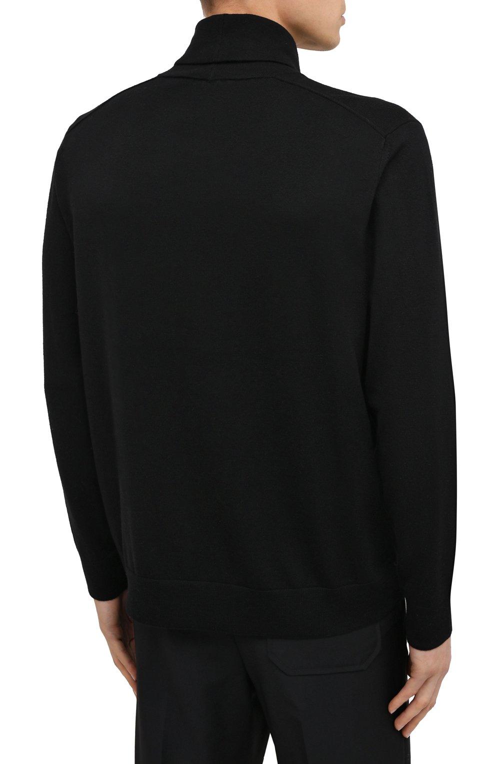 Мужской шерстяная водолазка ACNE STUDIOS черного цвета, арт. B60158   Фото 4