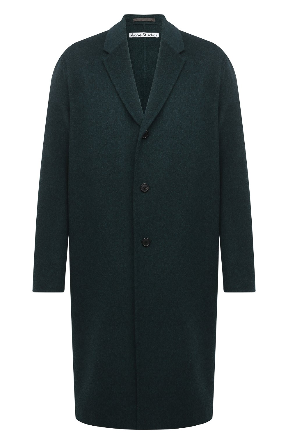 Мужской шерстяное пальто ACNE STUDIOS зеленого цвета, арт. B90467 | Фото 1
