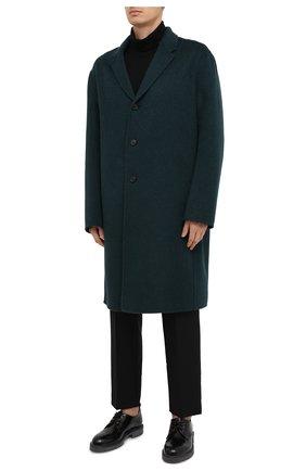 Мужской шерстяное пальто ACNE STUDIOS зеленого цвета, арт. B90467 | Фото 4