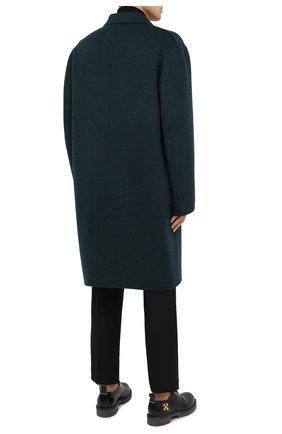 Мужской шерстяное пальто ACNE STUDIOS зеленого цвета, арт. B90467 | Фото 5