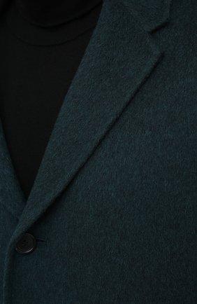 Мужской шерстяное пальто ACNE STUDIOS зеленого цвета, арт. B90467 | Фото 6
