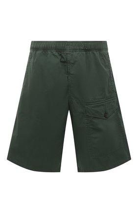 Мужские хлопковые шорты ACNE STUDIOS зеленого цвета, арт. BE0052 | Фото 1
