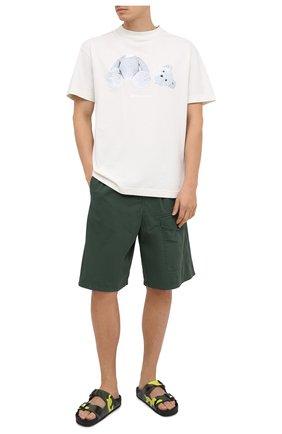 Мужские хлопковые шорты ACNE STUDIOS зеленого цвета, арт. BE0052 | Фото 2