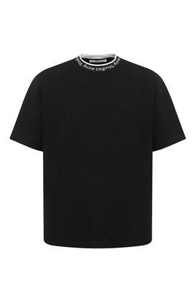 Мужская футболка ACNE STUDIOS черного цвета, арт. BL0221 | Фото 1