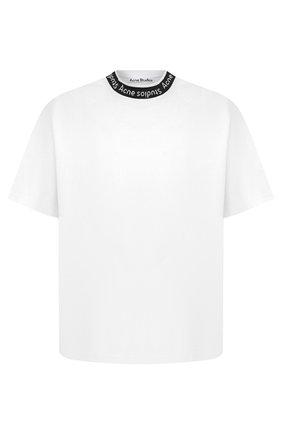 Мужская футболка ACNE STUDIOS белого цвета, арт. BL0221 | Фото 1