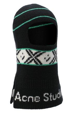 Мужская шерстяная шапка-балаклава ACNE STUDIOS черного цвета, арт. C40100/M | Фото 1