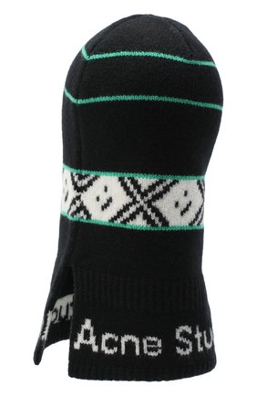 Мужская шерстяная шапка-балаклава ACNE STUDIOS черного цвета, арт. C40100/M | Фото 2
