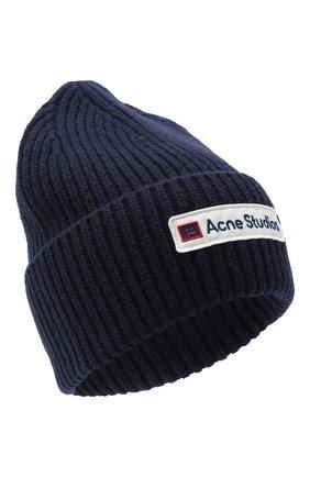 Мужская шерстяная шапка ACNE STUDIOS синего цвета, арт. C40102/M | Фото 1