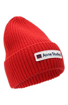 Мужская шерстяная шапка ACNE STUDIOS красного цвета, арт. C40102/M | Фото 1