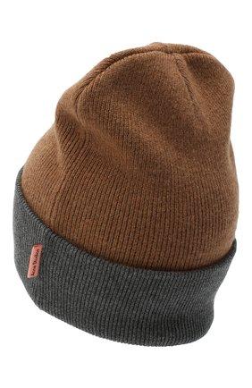 Мужская шерстяная шапка ACNE STUDIOS бежевого цвета, арт. C40108/M | Фото 2
