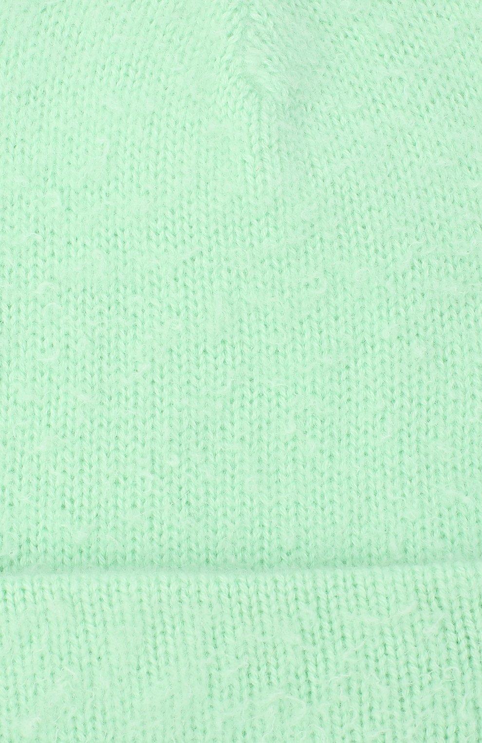 Мужская шапка из шерсти и кашемира ACNE STUDIOS светло-зеленого цвета, арт. C40111/M | Фото 3