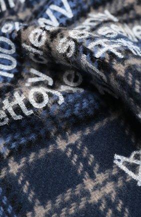 Мужской шерстяной шарф ACNE STUDIOS голубого цвета, арт. CA0095/M | Фото 2