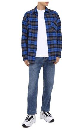 Мужская хлопковая рубашка ACNE STUDIOS синего цвета, арт. CB0017/M | Фото 2