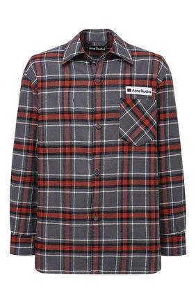 Мужская хлопковая рубашка ACNE STUDIOS серого цвета, арт. CB0023/M | Фото 1