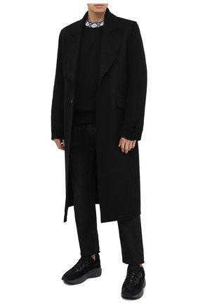 Мужской свитшот из вискозы и хлопка ACNE STUDIOS черного цвета, арт. CI0050/M | Фото 2