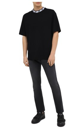 Мужская футболка ACNE STUDIOS черного цвета, арт. CL0072/M | Фото 2