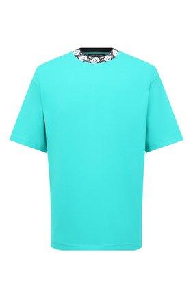 Мужская футболка ACNE STUDIOS бирюзового цвета, арт. CL0072/M | Фото 1