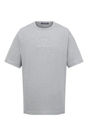 Мужская хлопковая футболка ACNE STUDIOS серого цвета, арт. CL0073/M | Фото 1