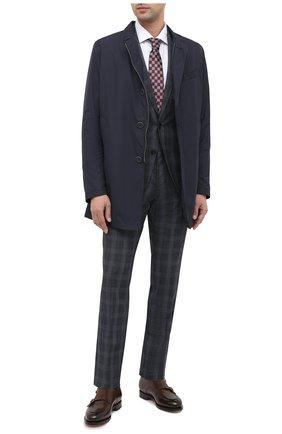Мужской шерстяной костюм BOSS синего цвета, арт. 50438224   Фото 1