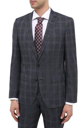 Мужской шерстяной костюм BOSS синего цвета, арт. 50438224   Фото 2