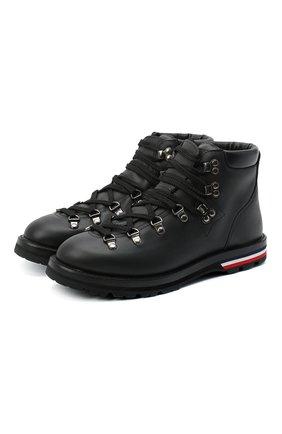 Женские кожаные ботинки blanche MONCLER черного цвета, арт. F2-09B-4G705-00-02SEP | Фото 1