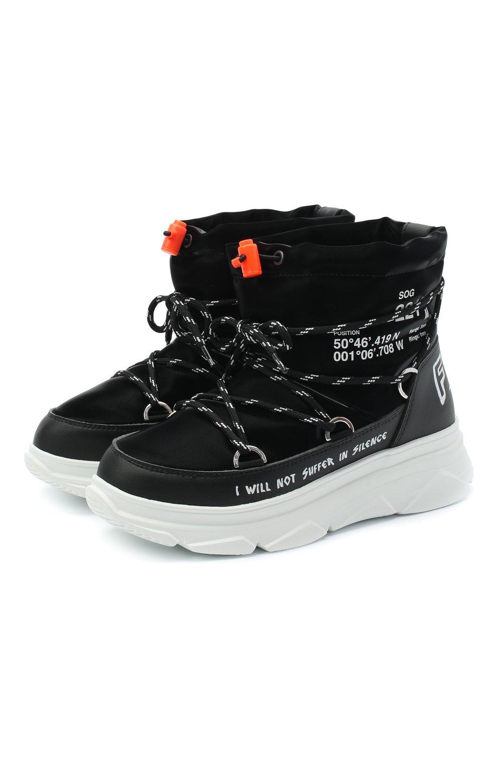 Женские текстильные ботинки F_WD черного цвета, арт. FW33082C/12102 | Фото 1