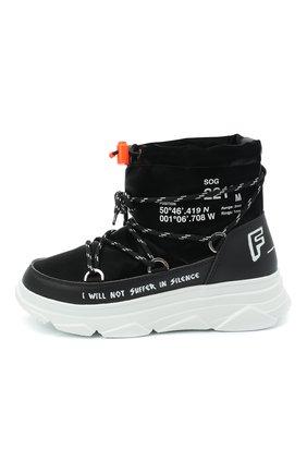 Женские текстильные ботинки F_WD черного цвета, арт. FW33082C/12102 | Фото 3