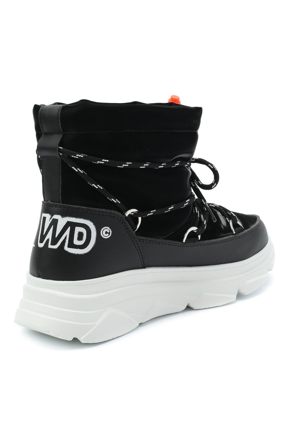 Женские текстильные ботинки F_WD черного цвета, арт. FW33082C/12102 | Фото 4