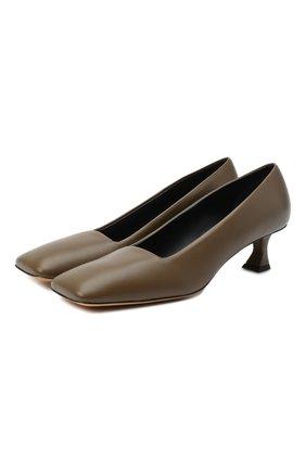 Женская кожаные туфли square toe PROENZA SCHOULER коричневого цвета, арт. PS35040A/12004 | Фото 1