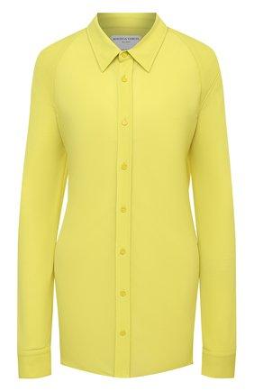 Женская рубашка BOTTEGA VENETA светло-зеленого цвета, арт. 636591/V02I0 | Фото 1