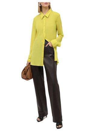 Женская рубашка BOTTEGA VENETA светло-зеленого цвета, арт. 636591/V02I0 | Фото 2