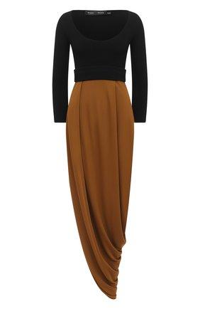 Женское платье из вискозы PROENZA SCHOULER хаки цвета, арт. R2033031-JY068 | Фото 1