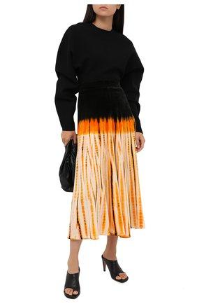Женская юбка-миди PROENZA SCHOULER оранжевого цвета, арт. R2035019-JYP43 | Фото 2