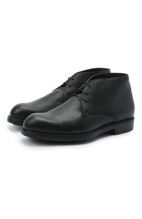 Мужские кожаные ботинки MORESCHI черного цвета, арт. 43248/SD/ADRIA/F.PELLICCIA | Фото 1