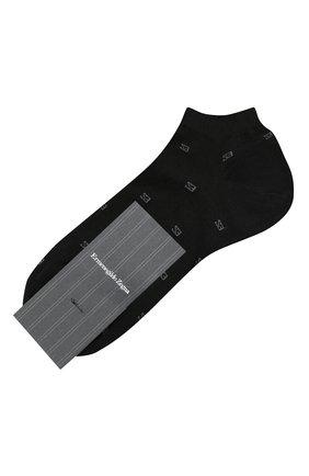 Мужские хлопковые носки ERMENEGILDO ZEGNA черного цвета, арт. N5V023240 | Фото 1