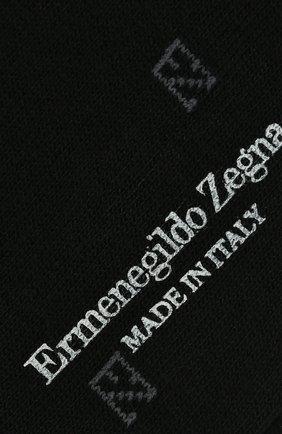 Мужские хлопковые носки ERMENEGILDO ZEGNA черного цвета, арт. N5V023240 | Фото 2