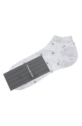 Мужские хлопковые носки ERMENEGILDO ZEGNA серого цвета, арт. N5V023240 | Фото 1