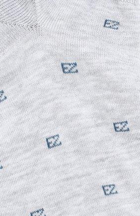 Мужские хлопковые носки ERMENEGILDO ZEGNA серого цвета, арт. N5V023240 | Фото 2