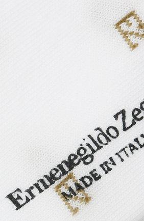 Мужские хлопковые носки ERMENEGILDO ZEGNA белого цвета, арт. N5V023240 | Фото 2