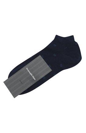 Мужские хлопковые носки ERMENEGILDO ZEGNA синего цвета, арт. N5V023240 | Фото 1